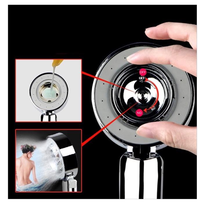 MALAYSIA: KEPALA PAIP HUJAN 2 BELAH BOLEH GUNA Shower Head Bathroom Shower Sprayer Shower Water Saving Showerhead