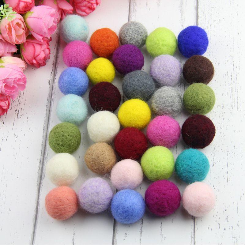 1cm Felt Balls ~ Light Pink Felt Wool Balls ~ Handmade Pom Pom Woolen Beads