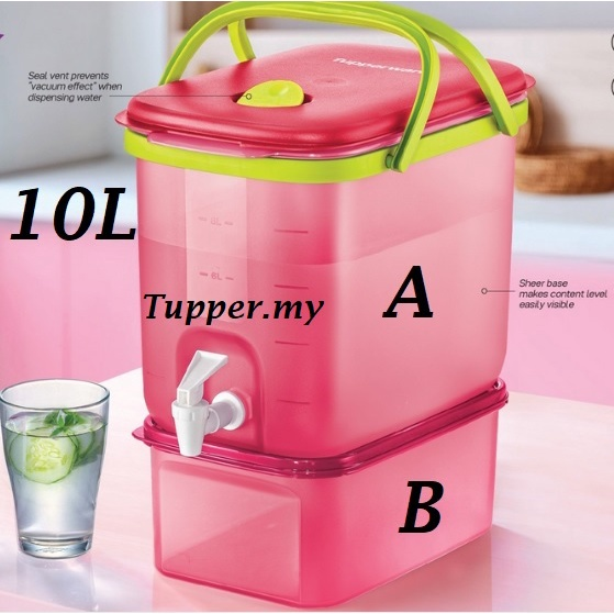 *Red*Tupperware Water Wonder dispenser All 10L 10.0L With Box with/without MM Rectangular II