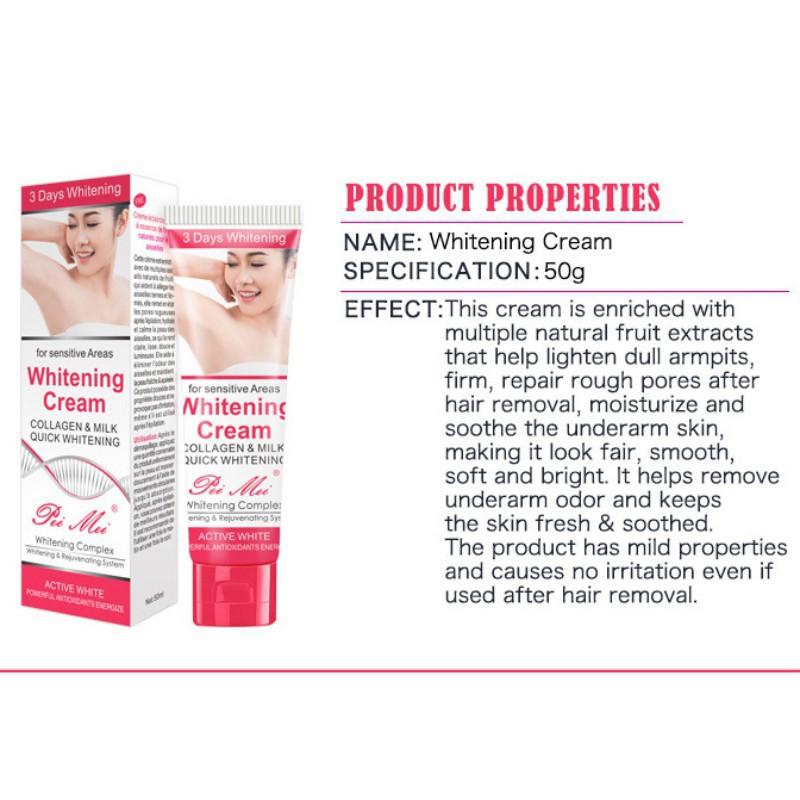 Female Underarm Whitening Cream Lighten Melanin Sweat-proof Stop Odor Skin  Care
