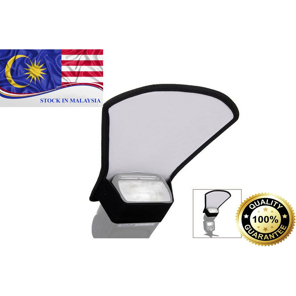 Two Side Silver/White Reflector Pad Flash Diffuser For Camera Flash (Ready Stock In Malaysia)