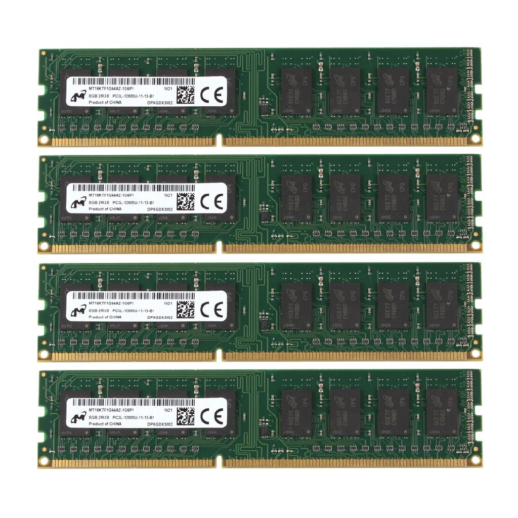 For Crucial 8GB PC3L 12800U 1.35V DDR3 1600MHz DIMM Desktop Memory RAM Intel CPU