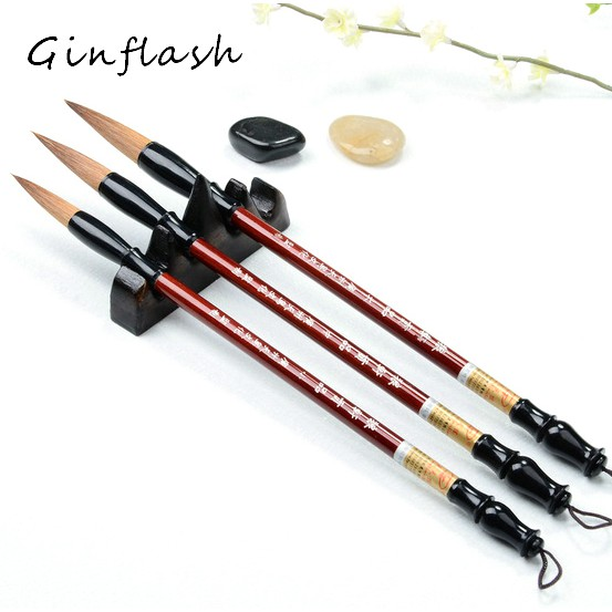 Lot Wholesale Chinese Calligraphy Painting Writing Wood Brush for Students