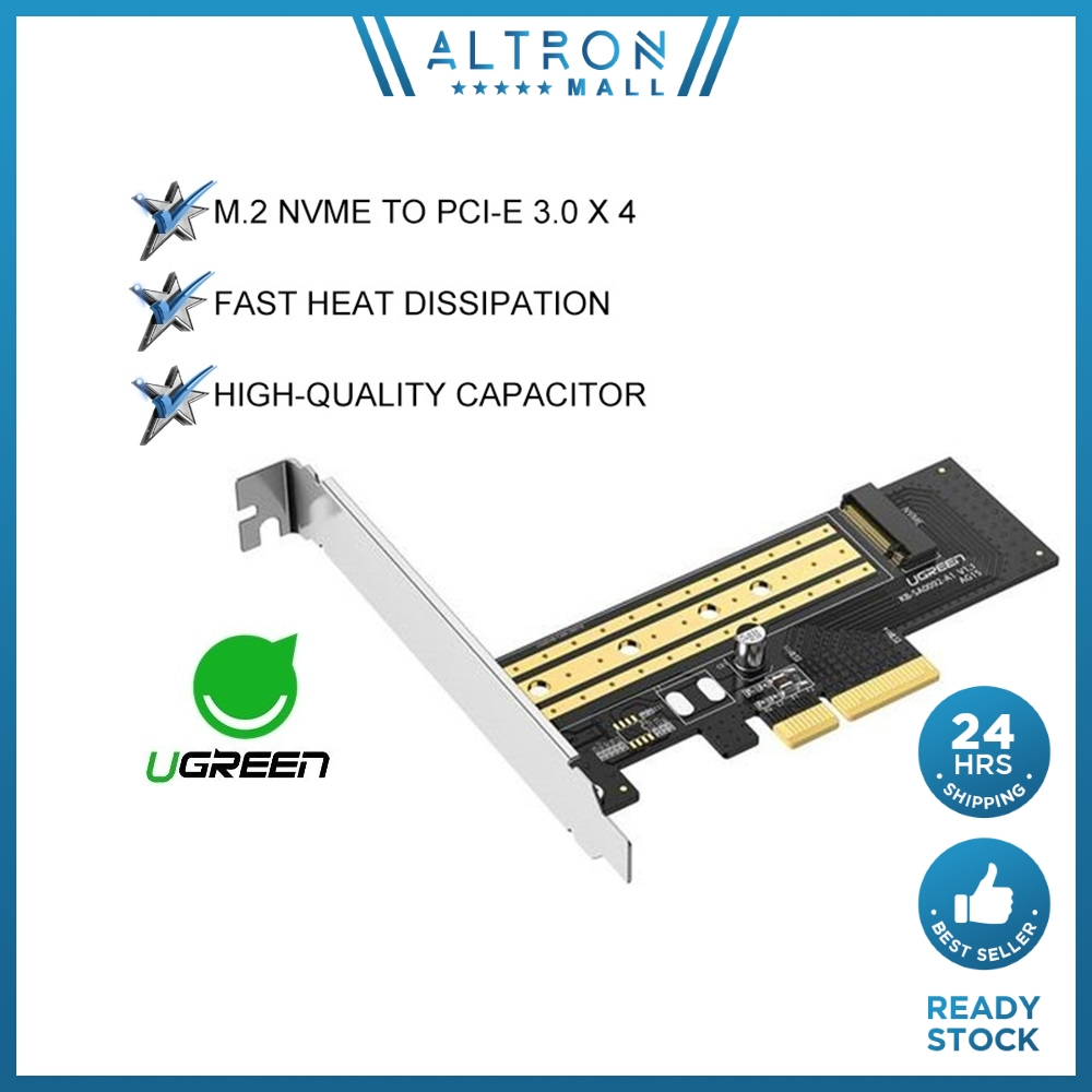UGREEN PCIE to M2 Adapter NVMe M.2 PCI Express Adapter 32Gbps PCI-E Card x4 8 16 M&B Key SSD Computer Expansion Cards