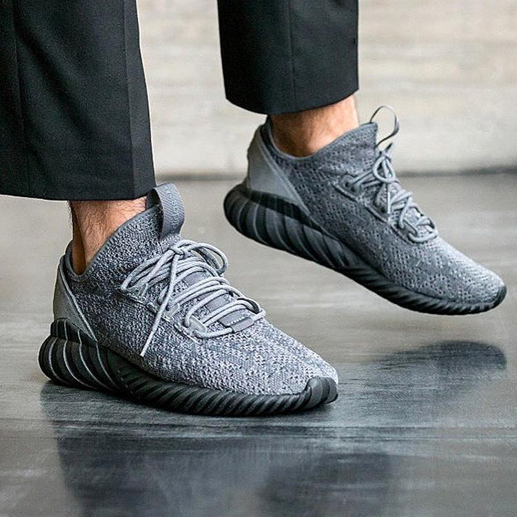 quite nice new specials to buy Adidas Tubular Doom Sock Primeknit 'Grey Four /Core Black ...