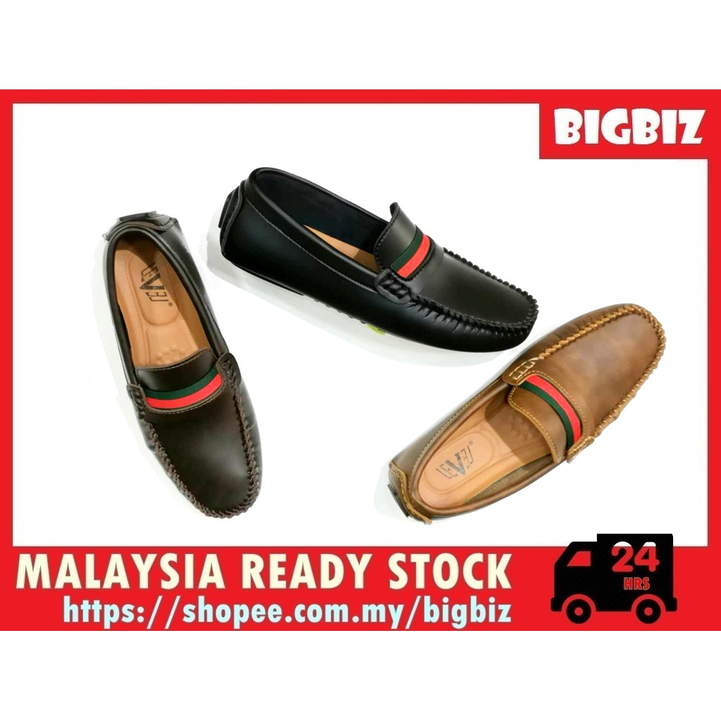 Ready Stock Men Mocassin / Cover Shoe (GUCCI Strap)by BigBiz