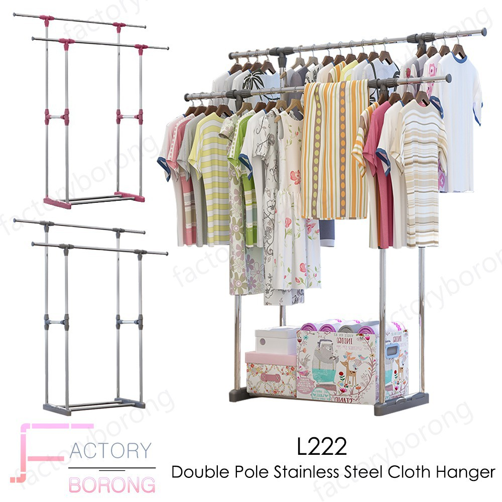 Pole Hanger Housekeeping Laundry Online Shopping Sales And Gantungan Baju Single Promotions Home Living Oct 2018 Shopee Malaysia
