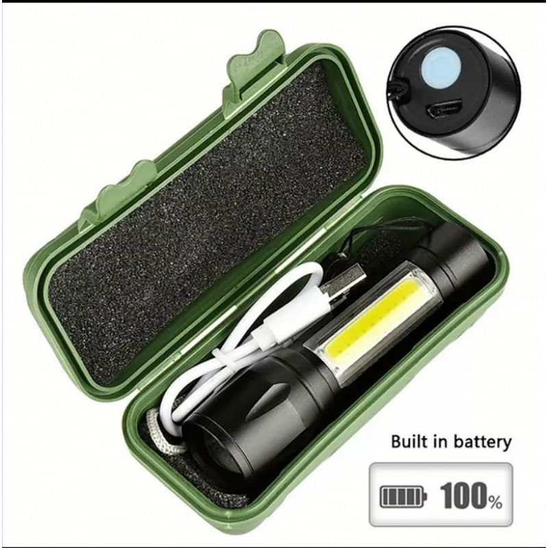 Summer 4 Modes LED Bright Small Aluminum Flashlight Torch Adjustable Focus Zoom Light Lamp Rechargeable Torch Light