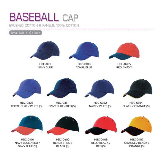 BASEBALL CAP BRUSHED COTTON 6 PANELS 100% COTTON  00d19d1688c7