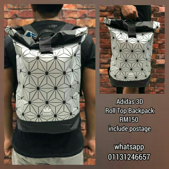 05629f0220ac (ready stock) Original Adidas x Issey Miyake 3D Urban Mesh Roll Up Backpack