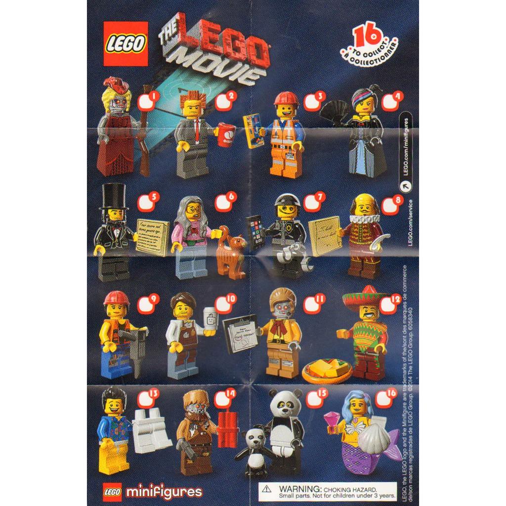 Lego 71004 The Lego Movie Minifigure Set Of 16 Shopee Malaysia
