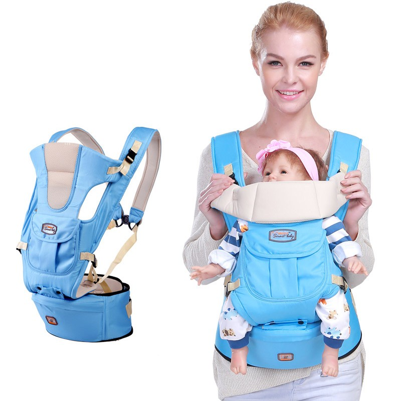 86fabf5ceb7 AIEBAO Detachable Hipseat Seat Backpack Waist Baby Carrier DEEP BLUE ...