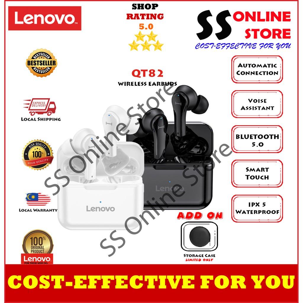 Lenovo QT82 TWS Wireless BT Headphone In-ear Sports Earbuds Waterproof Sweatproof Earphone Noise Reduction Headphone