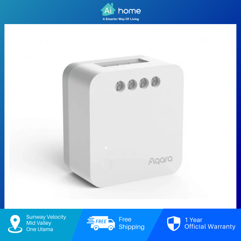 Aqara Single Switch Module T1 ( No Neutral ) Overload Protection | 2 Way Switch Support | Zigbee 3.0 [ Aihome ]