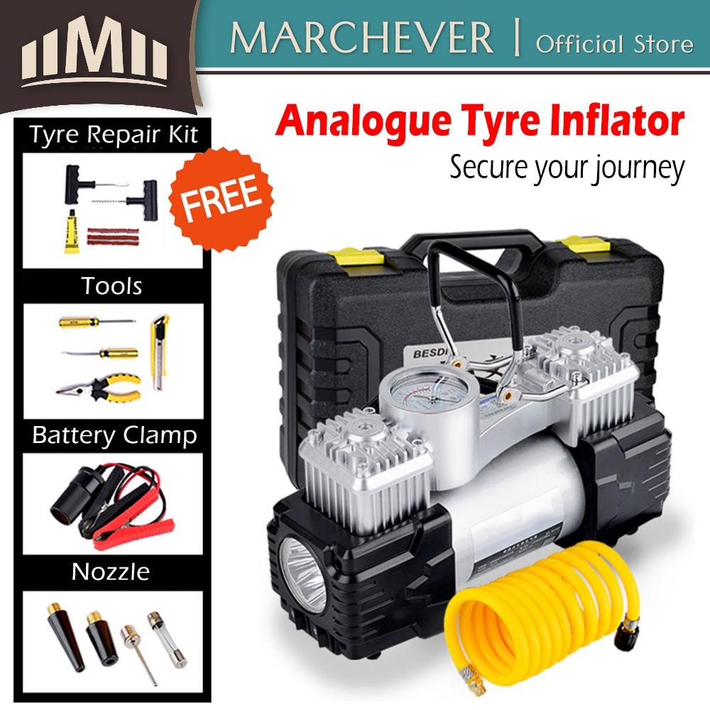 12V Air Compressor 150PSI 55L Car Tire Inflator Portable Kit Pressure Pump BP