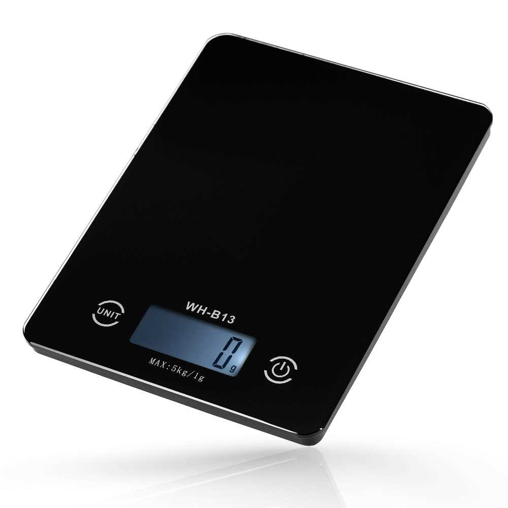 5KG/1G Accurate Touch Screen LCD Backlight Digital Kitchen Food Scale G/LB/OZ Electronic Weight Balance for Baking Cook