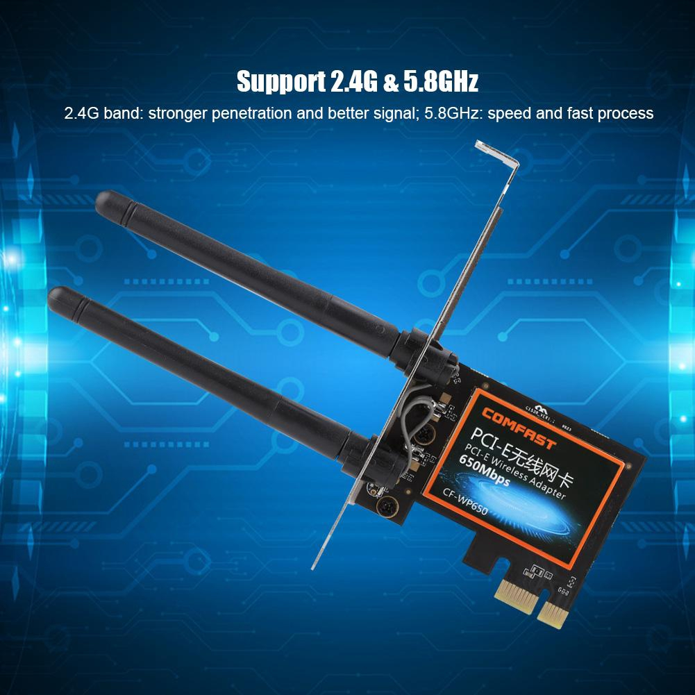 COMFAST WP650 5G Dual Band PCI-E Wireless Network Card Home Office Computer  Wireless Receiver