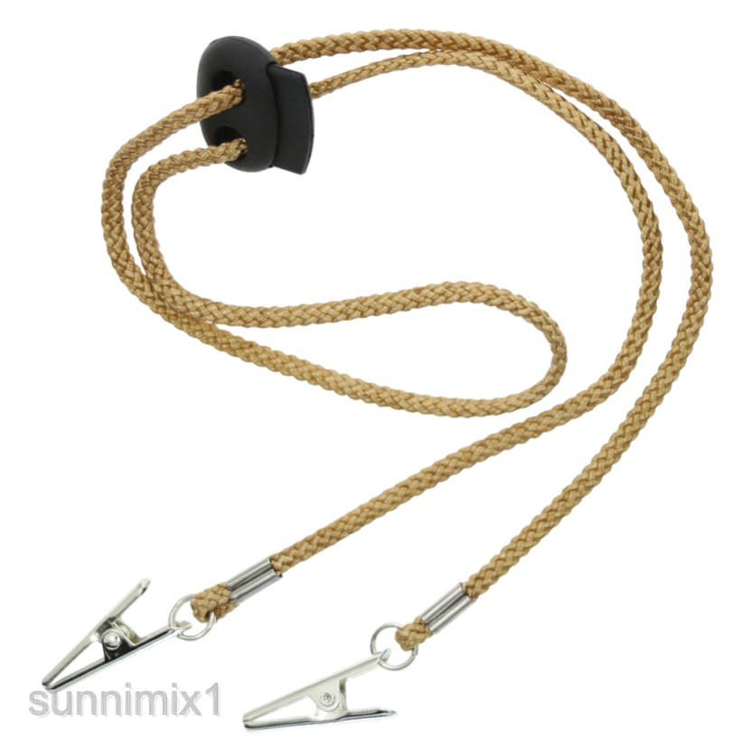 Napkin Clip Lanyard Neck Strap for Elderly Adult Shine Bling Bling Jewelry Necklace