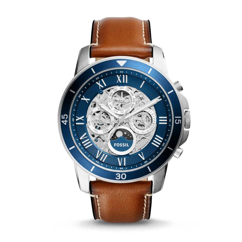 Ready Stock Original Fossil Fs5237 Watch Grant Sport Chronograph Jam Tangan Jr1354 Nate Black Leather Blue Shopee Malaysia