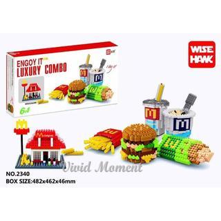 Balody McDonald/'s Hamburger Chips Food DIY Mini Diamond Building Nano Blocks Toy