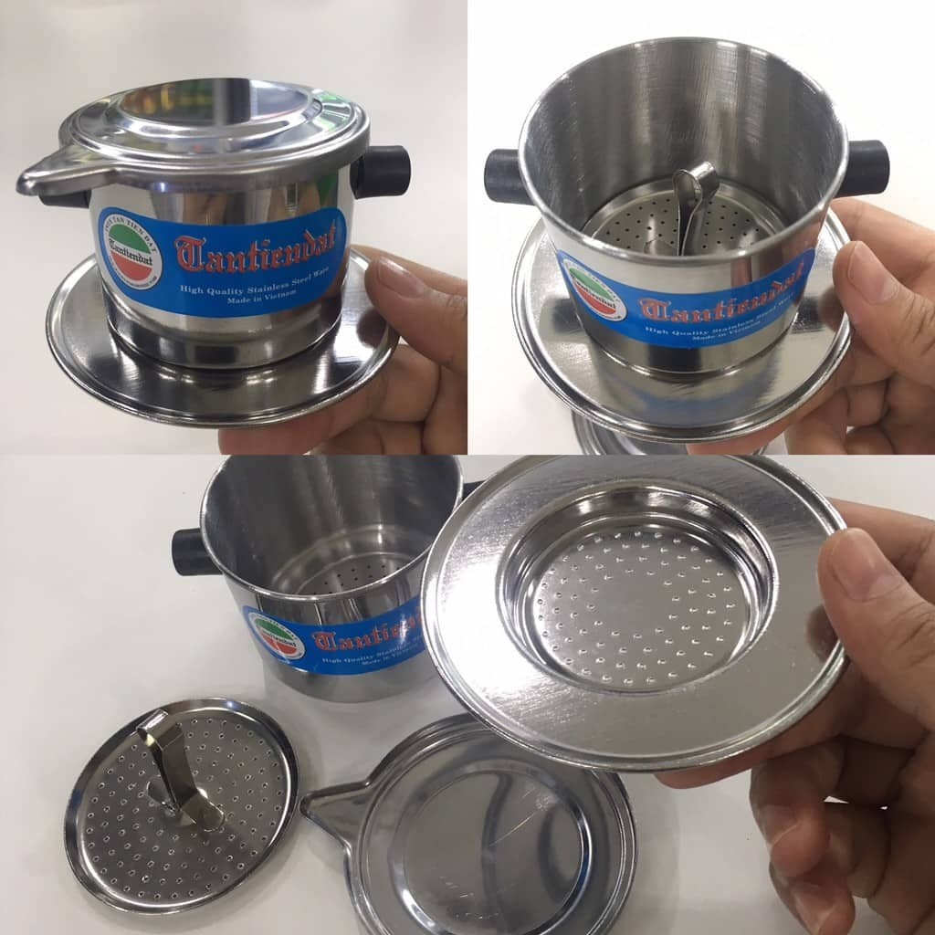Vietnam stainless steel coffee phin 6cm