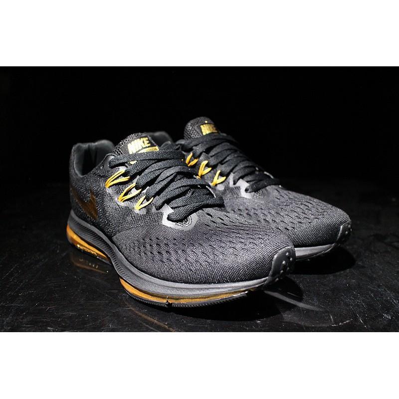 wholesale dealer e97e2 f3e32 H2383GY Nike Zoom WINFLO 4 black gold men's running shoes