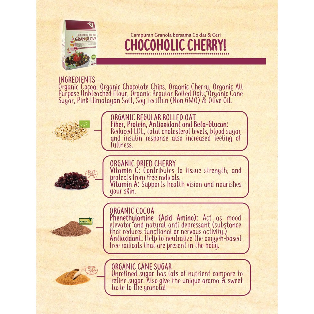 Chocoholic Cherry Granolove 300g