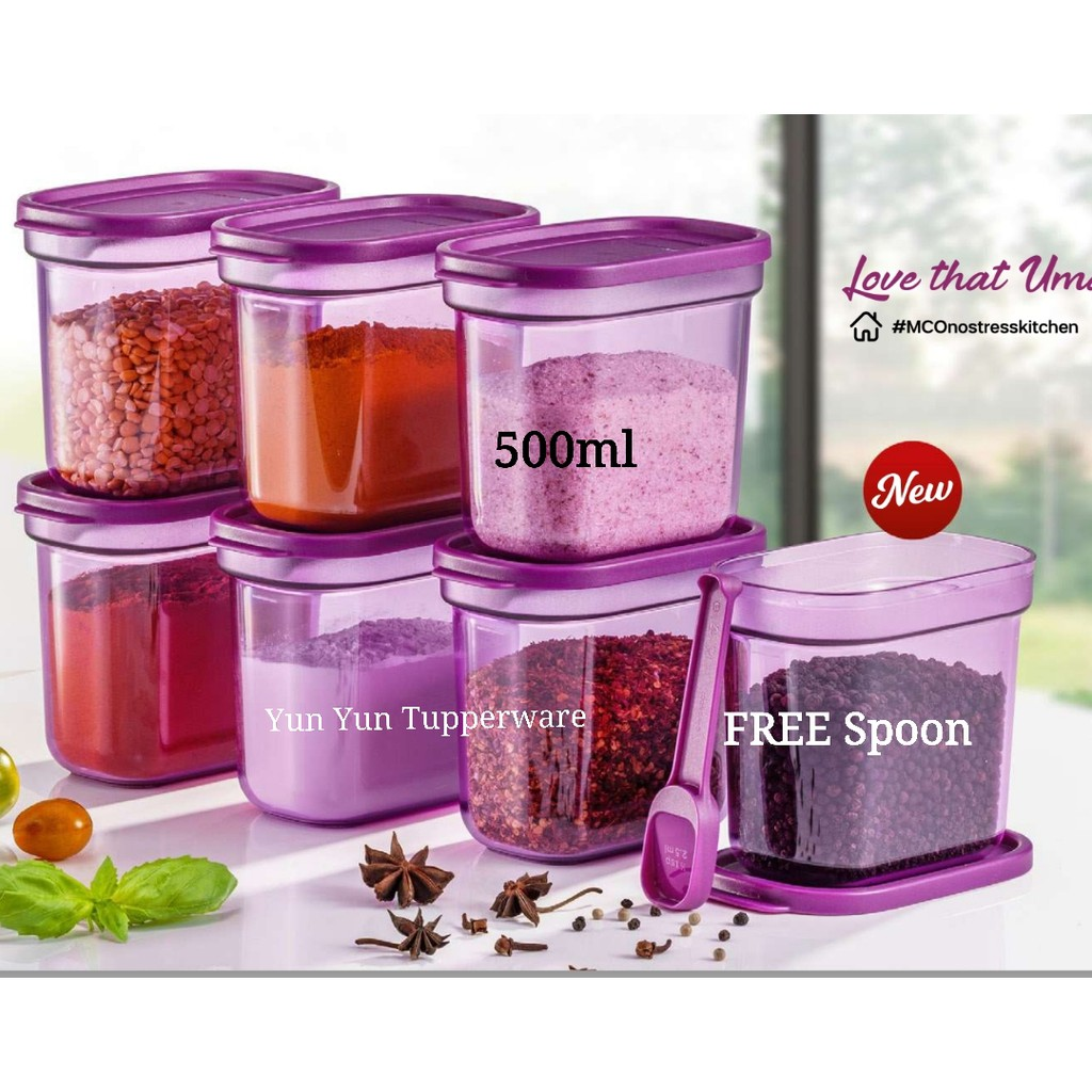 🔥READY STOCK🔥 Tupperware Umami Collection 500ml + FREE Spoon