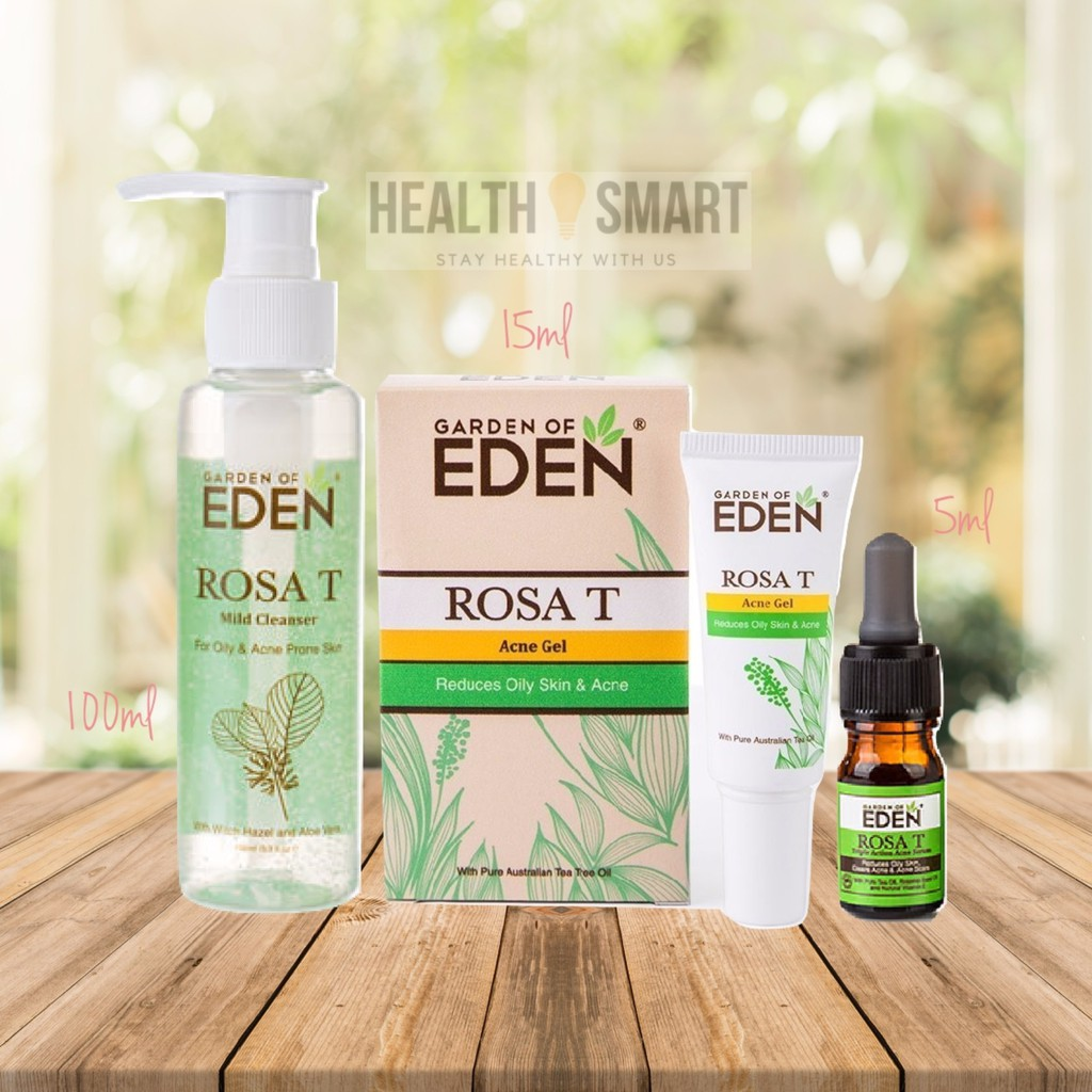 Exp 2022 Garden Of Eden Acne Care Set 100ml 15ml 5ml Rosa T Mild Cleanser Rosa T Serum Rosa T Acne Gel Shopee Malaysia