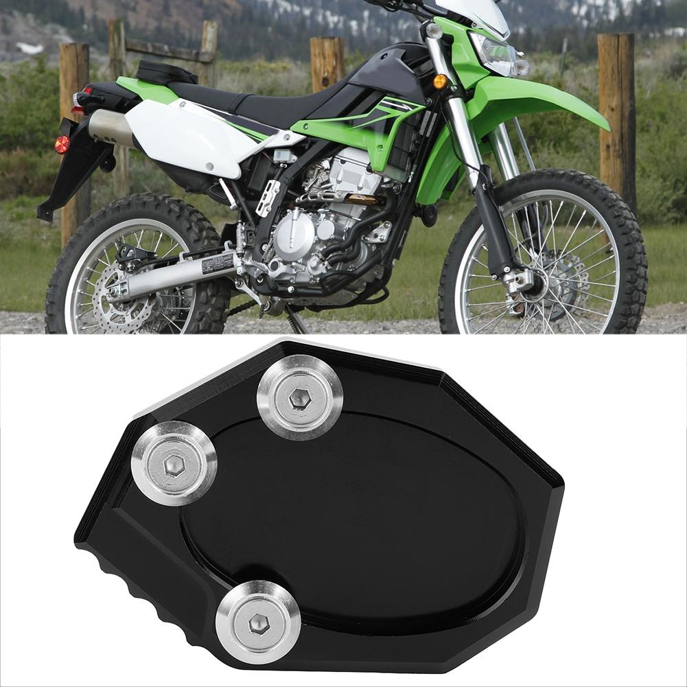 CNC Aluminum Motorcycle Side Stand Extension Pad Enlarger Anti-Corrosion Fit for 650 KLX 250 Topzon Side Stand Pad