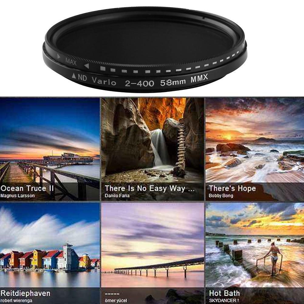 8pcs Neutral Density Nd Filter Set For Dslr Camera Canon Nikon Slim Adjustable Fader Variable 2 400 Nd2 To Nd400 49mm 49 Mm Fotga Pentax Sony Lf291 Shopee Malaysia