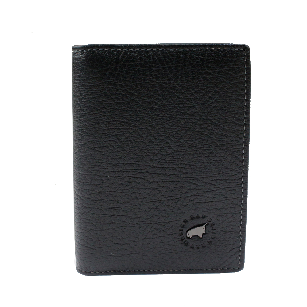 RAV DESIGN Leather Anti-RFID Bi-Fold Card Holder |RVW638G2(B)