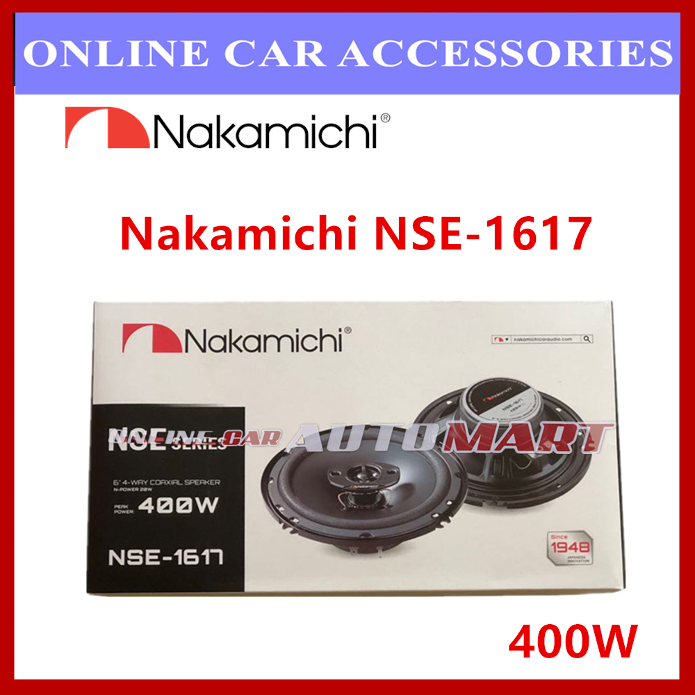 """Nakamichi NSE-1617 6"""" 15.8cm 400W 4 Way Car Coaxial Speaker System"""