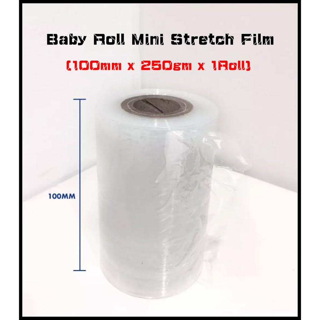 100mm x 250gm Baby Roll Mini Stretch Film x 1 Roll