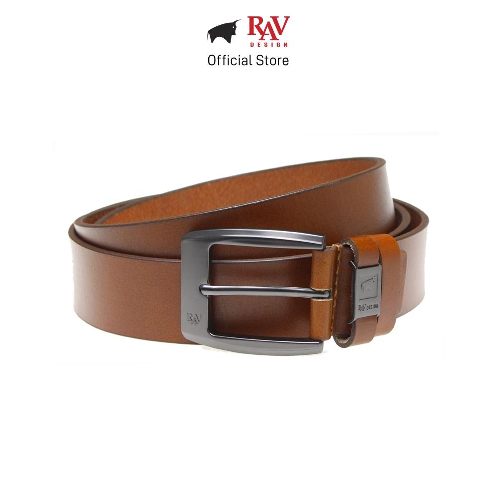 Rav Design Men's Cow Leather Pin Buckle Belt - Brown (XXL/40mm) RVB558G1