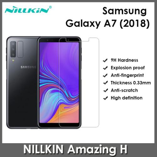 Samsung Galaxy A7 2018 Tempered Glass Nillkin Amazing H 0.33MM Screen Protector | Shopee Malaysia