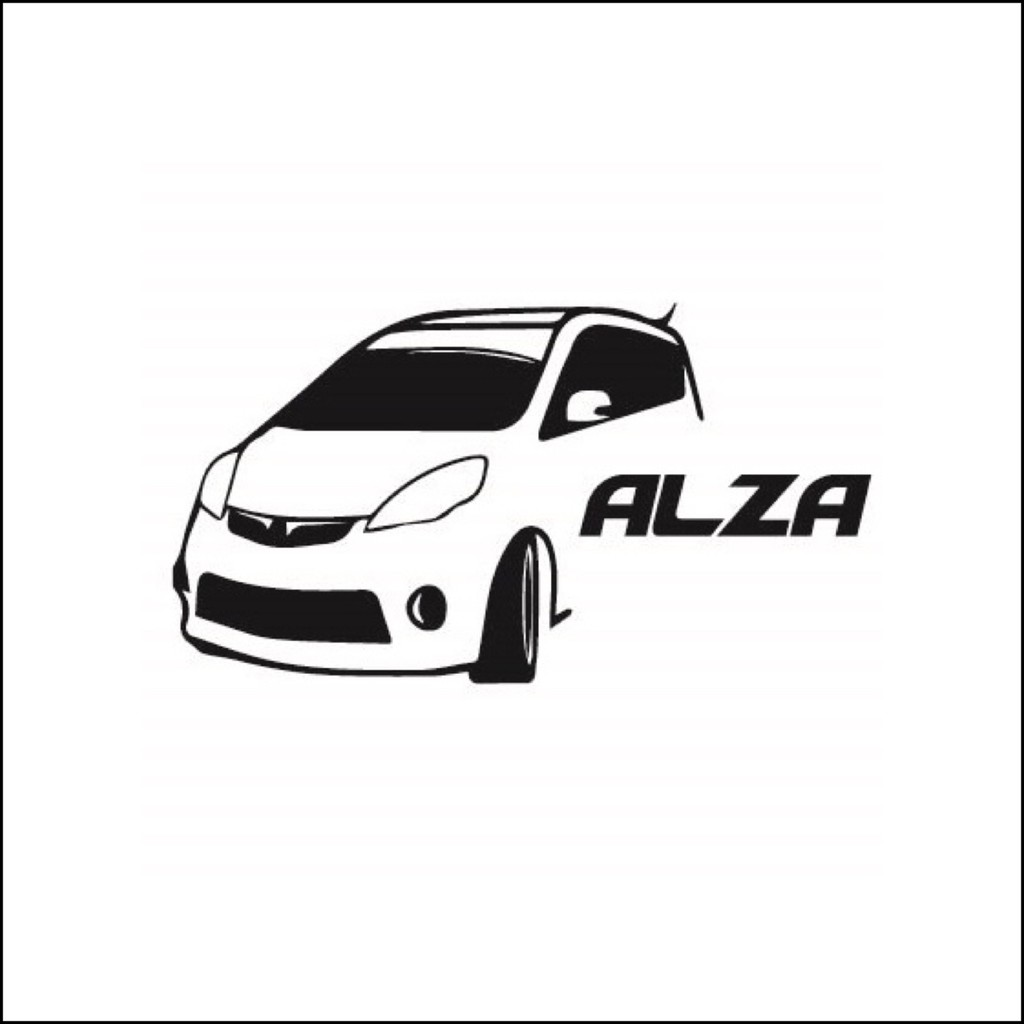 Alza Car Sticker