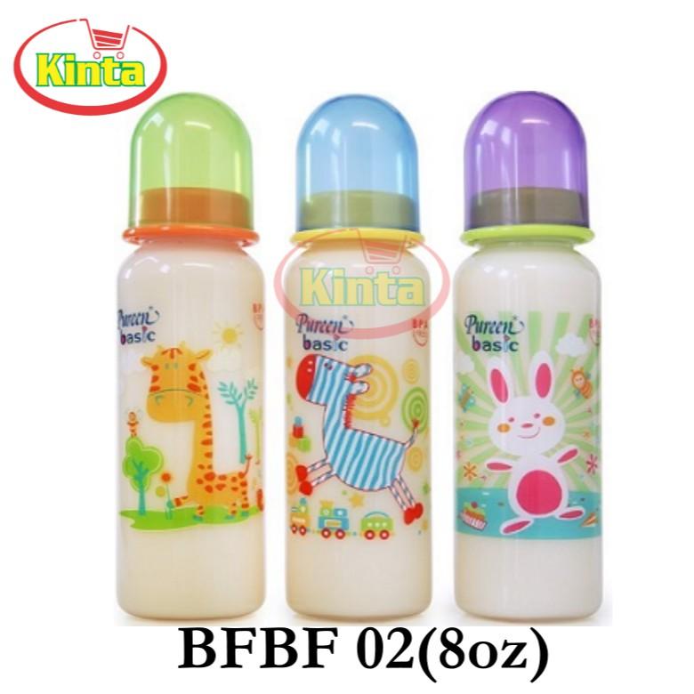 Pureen Basic Round Feeding Bottle 8oz(BFBF 02)