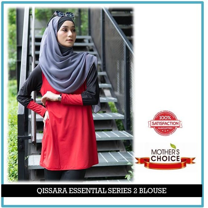 ES205 - QISSARA ESSENTIAL SERIES 2 MOMMY MATERNITY AND NURSING BLOUSE
