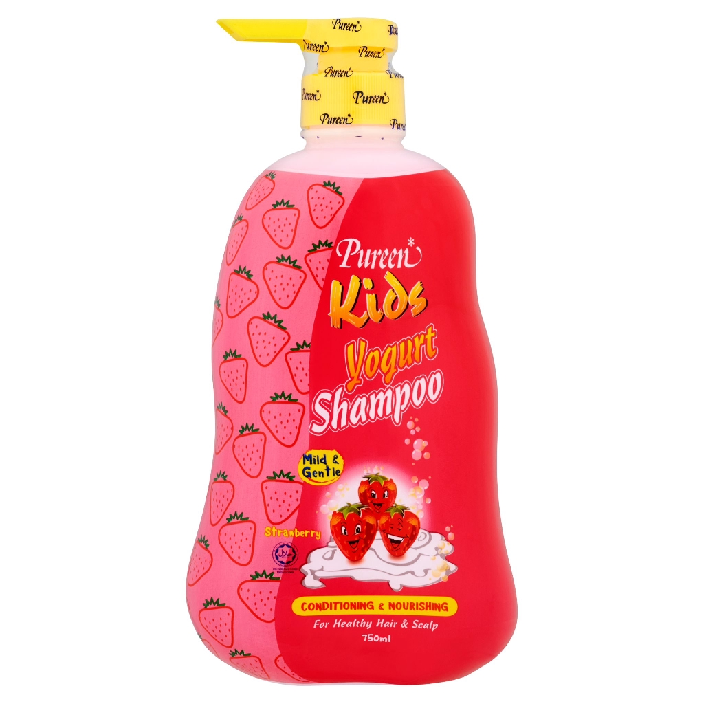 Pureen Kids Shampoo - Yogurt Strawberry (750ml)