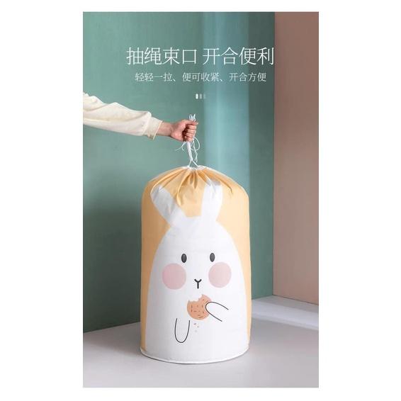 [ Ready Stock ] Cotton Storage Bag   Beam Clothing Quilt Finishing Bag   Home Moving Luggage Folding Bag  束口棉被收纳袋