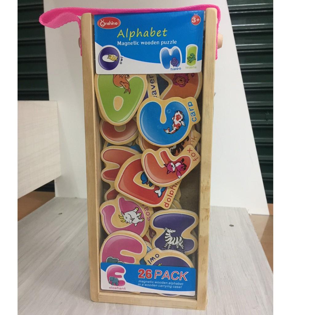 Magnetic Alphabet (ABC)/123/transport/wild) Wooden Puzzle