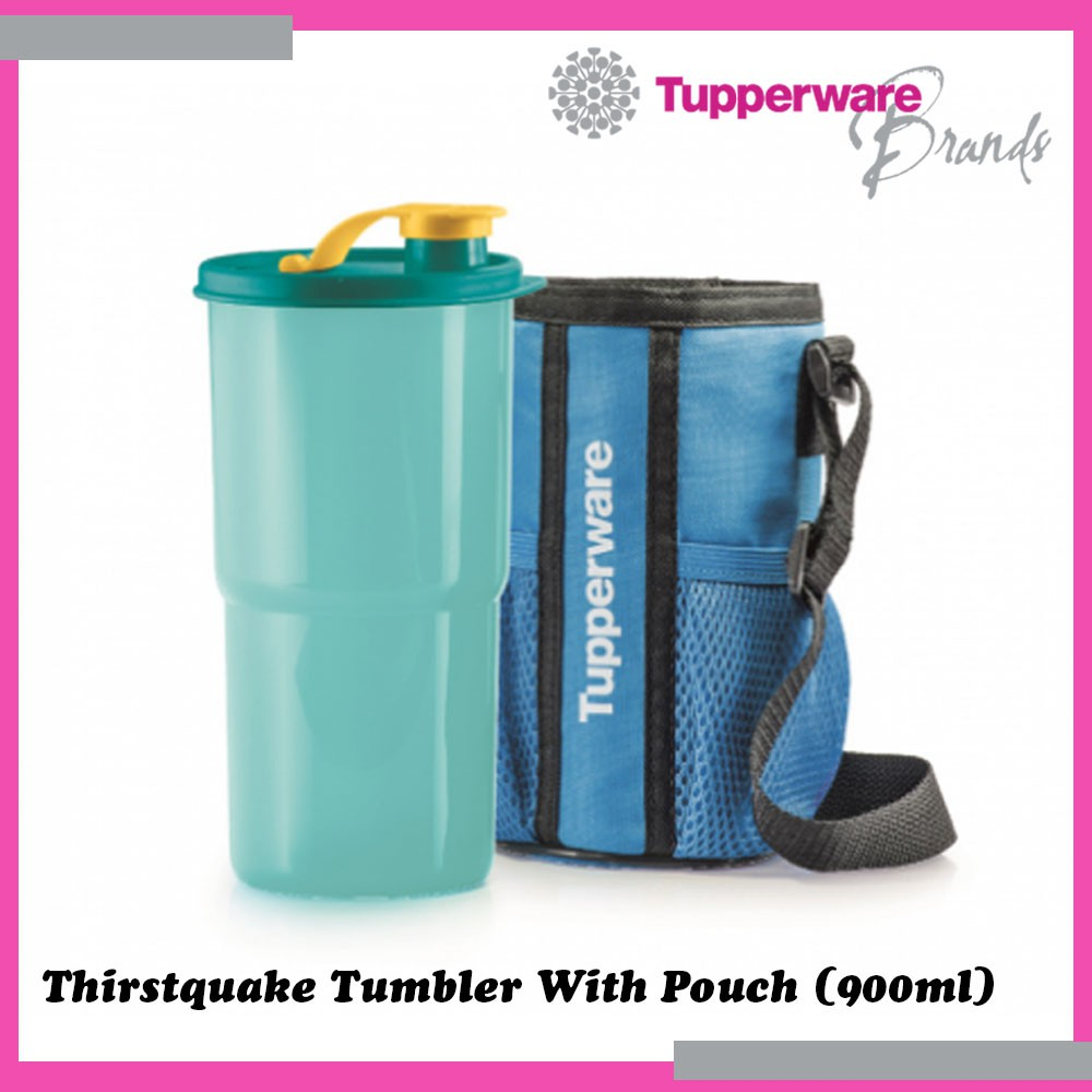 Tupperware Thirstquake Tumbler With Pouch 900ml On-the-Go Water Bottle