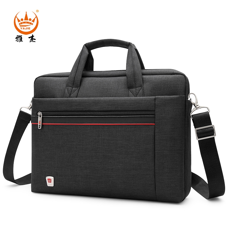 31dd3e0b670e ☽Jager Briefcase Male Business Large capacity computer bag Canvas handbag  Oxfor