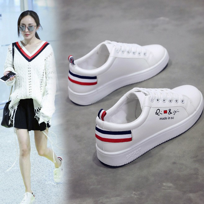 Korean white shoes casual shoes canvas shoes PU waterproof shoes