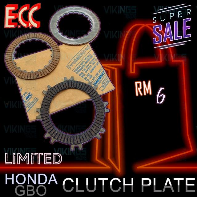 HONDA GBO TAIWAN ECC CLUTCH PLATE/DISC 3 PCS