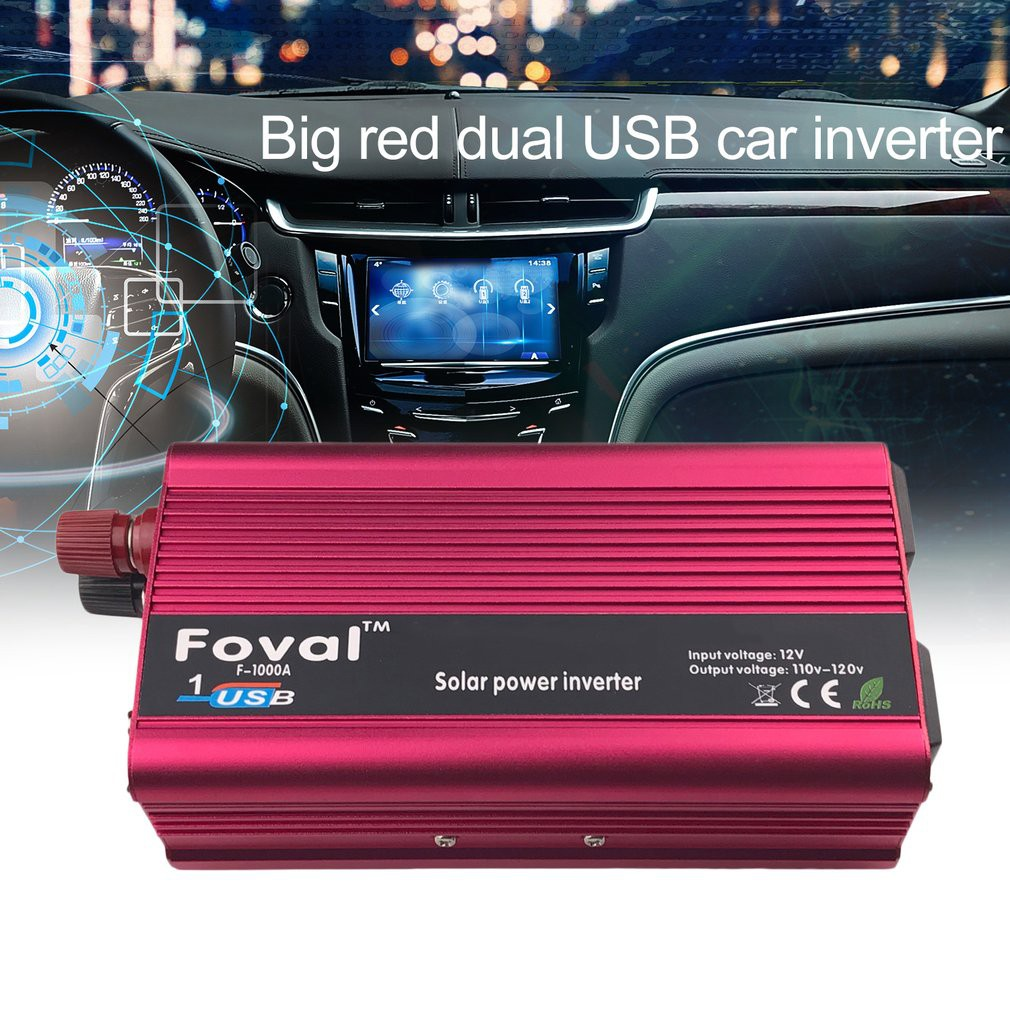 Portable 3000w Solar Power Car Inverter Lcd Display 12v 110v To 120v Supply Shopee Malaysia