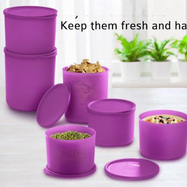 Tupperware Summer Fresh Large Set (Light Purple - 6pcs)