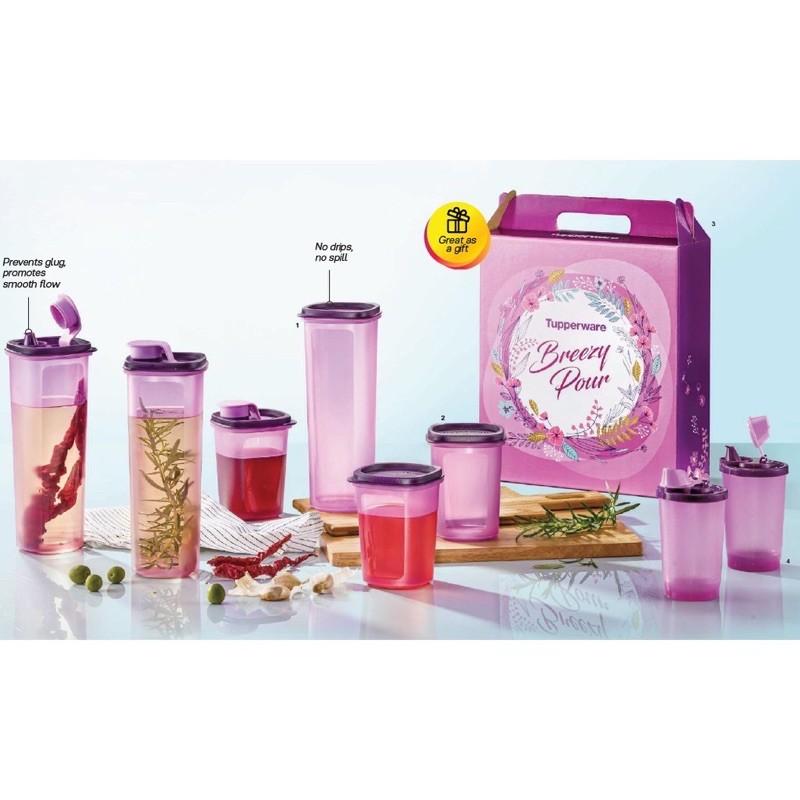 Ready Stock!Tupperware Breezy Pour Set (New Purple Colour) QIKs
