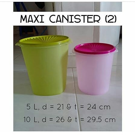 Tupperware maxi canister